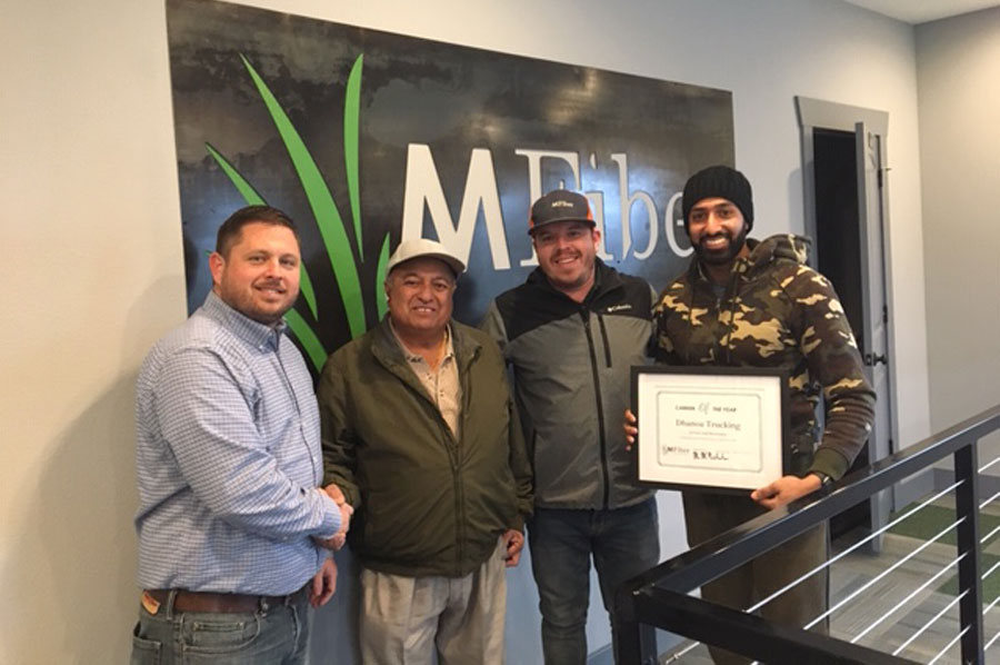 MFiber Names Dhanoa Trucking First Carrier of the Year